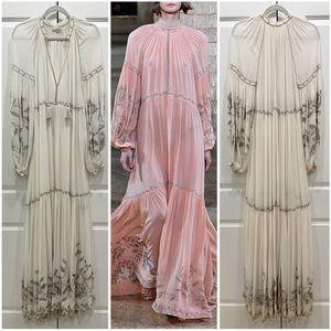 Ulla Johnson Tiana Silk Embroidered Maxi Dress NEW